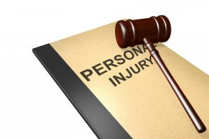 Personal injury book and gavel