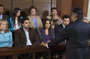 Attorney speaking to jury