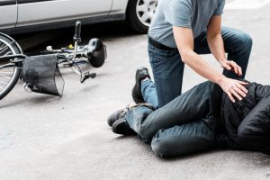 Person injured in bicycle accident