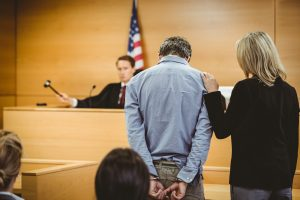 man in a courtroom