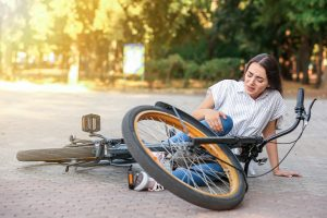 Woman in bicycle accident
